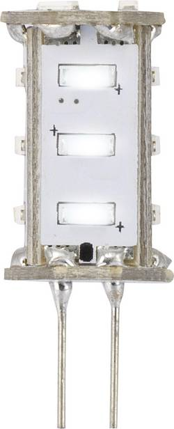 LED Sygonix G4, 0.8 W = 5 W, 33 mm, studená bílá, A, 1 ks