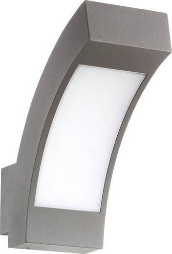 LED-Außenwandleuchte 4.5 W Kalt-Weiß Renkforce Prebent 1284364 Dunkel-Grau