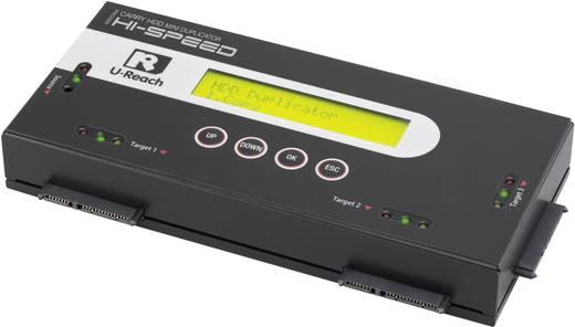 3fach Festplatten-Kopierstation U-Reach PRO368 SATA mit Löschfunktion, tragbar