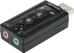 7.1 externí zvuková karta Manhattan Hi-Speed 3-D Sound Adapter externí konektor na sluchátka