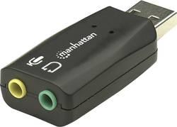 2.1 externí zvuková karta Manhattan Hi-Speed USB 3-D Audio Adapter externí konektor na sluchátka