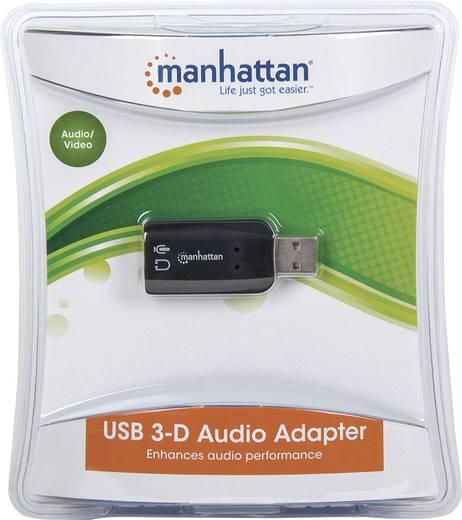 2.1 Soundkarte, Extern Manhattan Hi-Speed USB 3-D Audio Adapter externe Kopfhöreranschlüsse