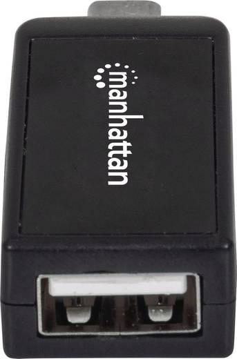 USB 2.0 Adapter [1x USB 2.0 Stecker Micro-B - 1x USB 2.0 Buchse A, SD-Karten-Slot] Schwarz mit OTG-Funktion Manhattan