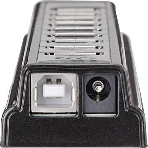 10 Port USB 2.0-Hub Manhattan Schwarz-Silber