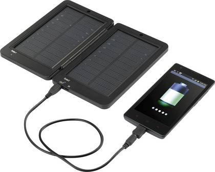 Solar-Powerbank mit Klappfunktion für größeres Solarpanel