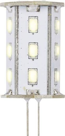 LED Sygonix G4, 2.4 W = 20 W, 46 mm, teplá bílá, A, 1 ks