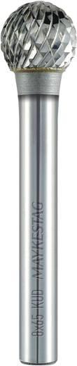 Frässtift 12 mm Form D Kugel (KUD) Alpen 787606112100 Hartmetall Schaft-Ø 6 mm