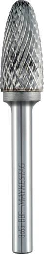 Frässtift 6 mm Form F Rundbogen (RBF) Alpen 788606106100 Hartmetall Schaft-Ø 6 mm