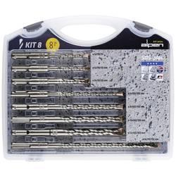 Tvrdý kov sada kladivových vrtákov Alpen 80704100100, 5 mm, 6 mm, 6 mm, 8 mm, 8 mm, 8 mm, 10 mm, 12 mm, N/A, 1 sada