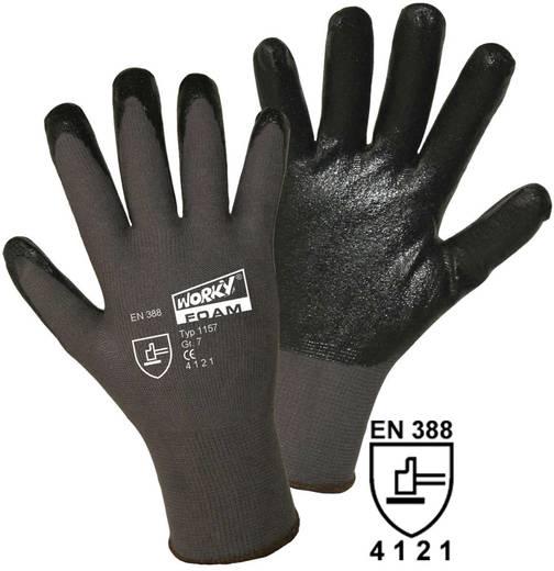 Nylon Arbeitshandschuh Größe (Handschuhe): 9, L EN 388 CAT II worky FOAM Nylon-Nitril 1157 1 Paar