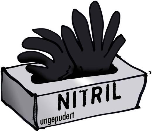 Nitril Einweghandschuh Größe (Handschuhe): 10, XL EN 455 Schwarze Witwe 14680 100 St.