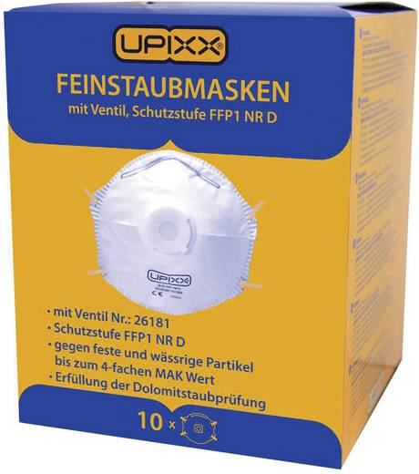 Feinstaubmaske mit Ventil FFP1 D Upixx 26181 10 St.
