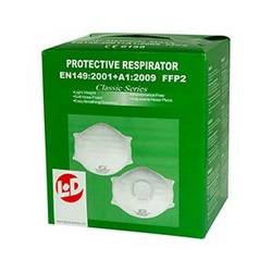 Respirátor proti jemnému prachu, s ventilem L+D Upixx 26183, 10 ks