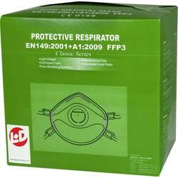 Respirátor proti jemnému prachu, s ventilem L+D Upixx 26184, 10 ks