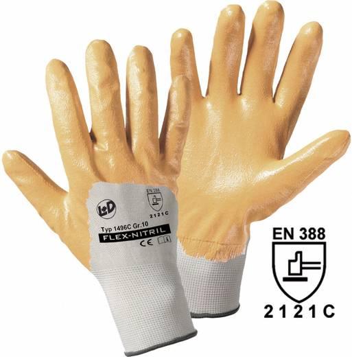 worky 1496C Polyester-Handschuh Flex-Nitril Polyester mit Nitrilkautschuk-Beschichtung Größe (Handschuhe): 7, S