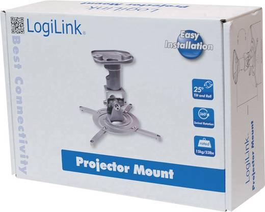 Beamer-Deckenhalterung Neigbar, Drehbar Boden-/Deckenabstand (max.): 22 cm LogiLink BP0001 Silber