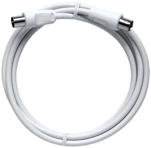 Antennen Anschlusskabel [1x Antennenstecker 75 Ω - 1x Antennenbuchse 75 Ω] 10 m 85 dB Weiß Axing