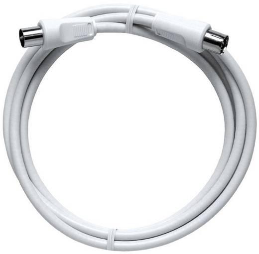 Antennen Anschlusskabel [1x Antennenstecker 75 Ω - 1x Antennenbuchse 75 Ω] 5 m 85 dB Weiß Axing
