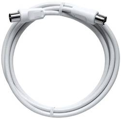 Câble de raccordement Axing BAK 375-90 [1x antenne mâle 75 Ω - 1x antenne femelle 75 Ω] 3.75 m blanc