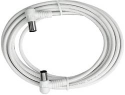 Câble de raccordement Axing BAK 503-00 [1x antenne mâle 75 Ω - 1x antenne femelle 75 Ω] 5 m blanc