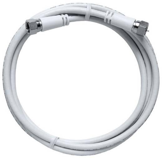 SAT Anschlusskabel [1x F-Stecker - 1x F-Stecker] 5 m 85 dB Weiß Axing