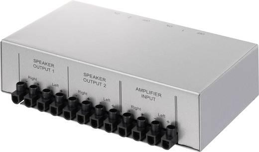 SpeaKa Professional 2 Port Lautsprecher-Umschalter Schraubanschluss Metallgehäuse 1289573 Silber