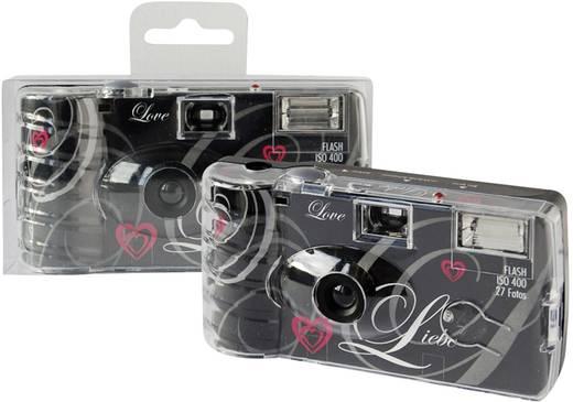 Einwegkamera Topshot Love Black 1 St. mit eingebautem Blitz