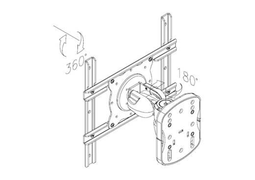 """NewStar Products FPMA-W915 TV-Wandhalterung 25,4 cm (10"""") - 101,6 cm (40"""") Neigbar+Schwenkbar"""