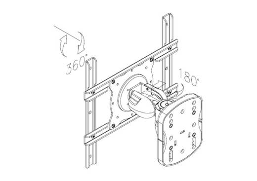 """TV-Wandhalterung 25,4 cm (10"""") - 101,6 cm (40"""") Neigbar+Schwenkbar NewStar Products FPMA-W915"""