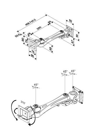 "Monitor-Wandhalterung 25,4 cm (10"") - 76,2 cm (30"") Neigbar+Schwenkbar NewStar Products FPMA-W920"