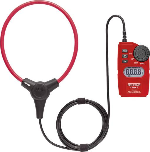 Benning CFlex 2 Stromzange digital Kalibriert nach: DAkkS CAT IV 600 V Anzeige (Counts): 3000