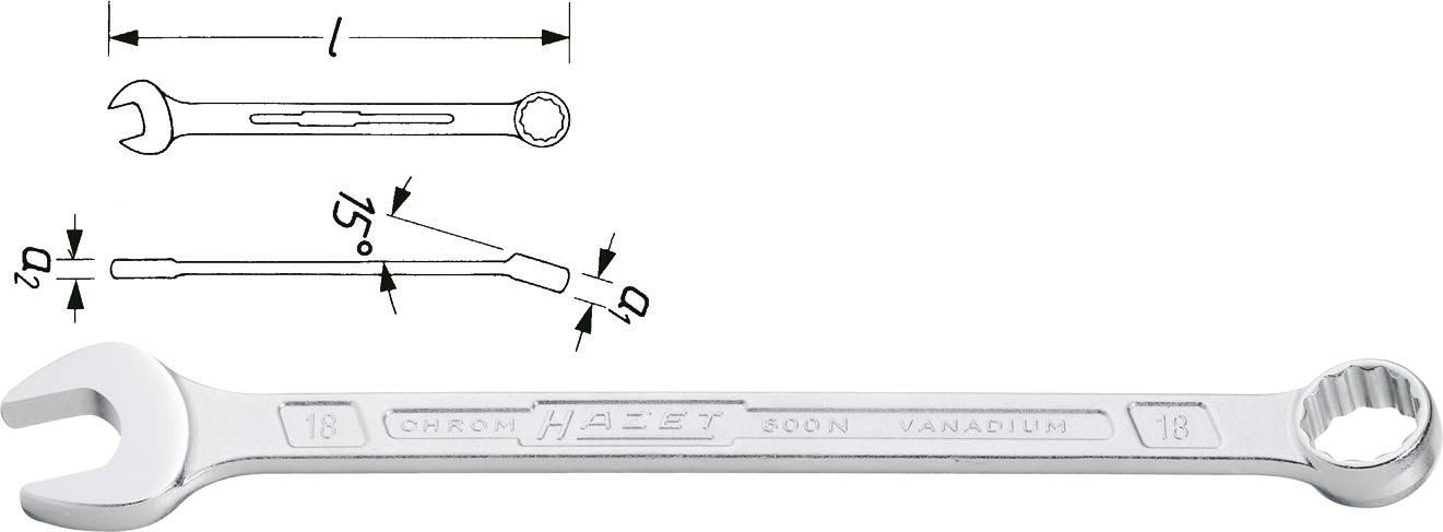 Hazet Ring-Maulschlüssel 8mm Ring Gabel Schlüssel Gabelschlüssel