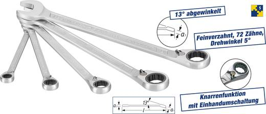 Knarren-Ring-Maulschlüssel-Satz 5teilig 8 - 19 mm Hazet 606/5