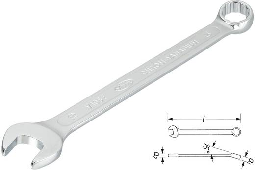 Ring-Maulschlüssel 18 mm DIN 3113, ISO 7738 Vigor V1673