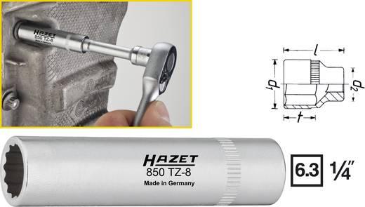 """Steckschlüsseleinsatz 8 mm 1/4"""" (6.3 mm) Produktabmessung, Länge 50 mm Hazet 850TZ-8"""