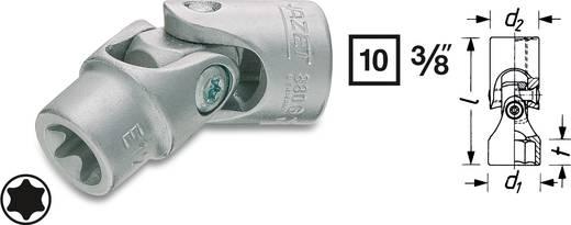 "Außen-TORX Gelenk-Steckschlüsseleinsatz T 8 3/8"" (10 mm) Hazet 880G-E8"