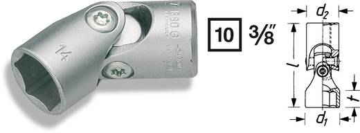 "Außen-Sechskant Gelenk-Steckschlüsseleinsatz 19 mm 3/8"" (10 mm) Produktabmessung, Länge 48 mm Hazet 880G-19"