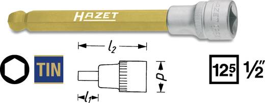 """Innen-Sechskant Steckschlüssel-Bit-Einsatz 12 mm 1/2"""" (12.5 mm) Produktabmessung, Länge 140 mm Hazet 986KK-12"""