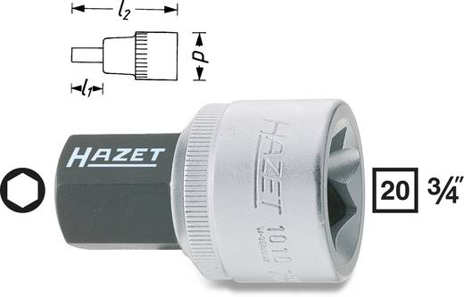"Innen-Sechskant Steckschlüssel-Bit-Einsatz 17 mm 3/4"" (20 mm) Produktabmessung, Länge 54.5 mm Hazet 1010-17"