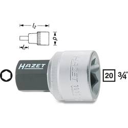 """Nástrčný kľúč, inbus Hazet 1010-19, 3/4"""" (20 mm), 19 mm, Speciální ocel"""