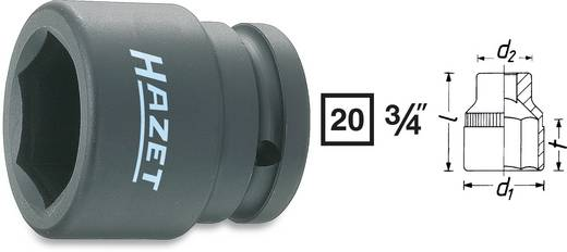 "Außen-Sechskant Kraft-Steckschlüsseleinsatz 19 mm 3/4"" (20 mm) Produktabmessung, Länge 48 mm Hazet 1000S-19"