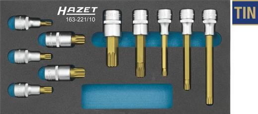 """Innen-Vielzahn (XZN) Steckschlüssel-Bit-Einsatz-Set 10teilig 1/2"""" (12.5 mm) Hazet 163-221/10"""
