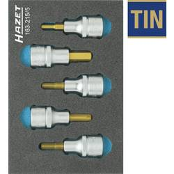 """Súprava nástrčných kľúčov a bitov, inbus Hazet 163-215/5, 1/2"""" (12.5 mm), Speciální ocel , 5-dielna"""