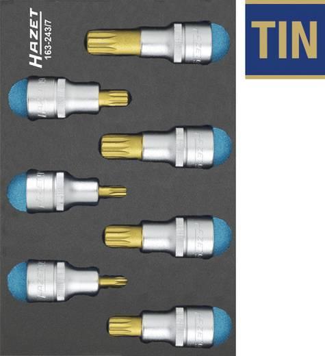 """Innen-Vielzahn (XZN) Steckschlüssel-Bit-Einsatz-Set 7teilig 1/2"""" (12.5 mm) Hazet 163-243/7"""