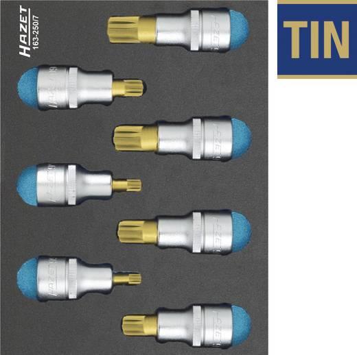 """Innen-Keilprofil Steckschlüssel-Bit-Einsatz-Set 7teilig 1/2"""" (12.5 mm) Hazet 163-250/7"""