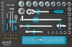 """Sada nástrčných klíčů Hazet 163-118/57, 1/4"""" (6,3 mm), 1/2"""", 57dílná"""