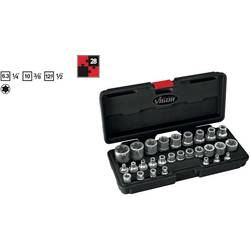 """Sada nástavcov pre nástrčný kľúč, vonkajší ITX (TX) Vigor V2687, 1/4"""" (6,3 mm), 28-dielna"""