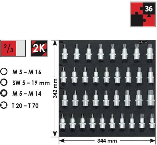 """Innen-Vielzahn (XZN), Innen-Sechskant, Innen-Keilprofil, Innen-TORX Steckschlüssel-Bit-Einsatz-Set 36teilig 1/2"""" (12"""