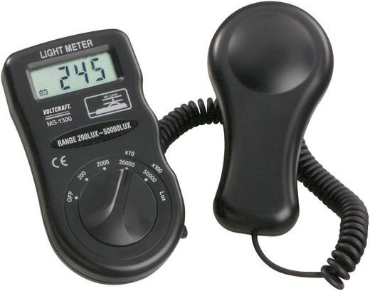Luxmeter VOLTCRAFT MS-1300 bis 50000 lx Kalibriert nach Werksstandard (ohne Zertifikat)