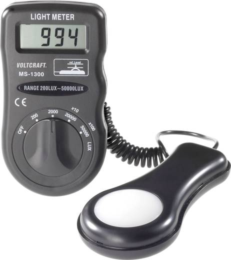 VOLTCRAFT MS-1300 Lux-Meter, Beleuchtungsmessgerät, Helligkeitsmesser, 0,1 - 50 000 lx, Lichtmengen-Messgerät